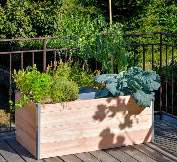 Modele terrasse keyhole garden